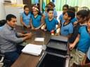 Alunos da Escola pedro Eugênio visitam Câmara de Vereadores de Buritis-RO