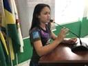 Câmara Municipal Parabeniza Escola Buriti pelo talento da Aluna Nayara de Oliveira Silva.