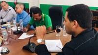 Vereador Prof. Marcelo Mendes se Reúne Com Vereadores, AGERB e empresa Água de Buritis para discutir sobre saneamento municipal.